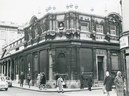 Pump Room and entrance to Kings and Queens Bath, - York Street facade 1969
