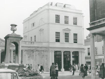 Pump Room - New Roman Baths gift shop, 1973.