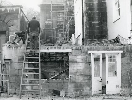 Ralph Allen's Townhouse as seen from York Street 1975