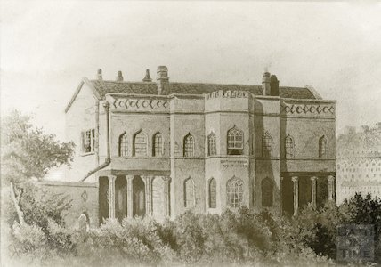 Bathwick Villa - photo of a watercolour by G. Hobson c. 1890.