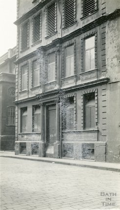 Cruttwell's House, and printing office St. James's Street (South), Bath c.1930