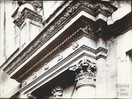 Detail of top of doorway, Beau Nash,'s house, Sawclose, Bath c.1903