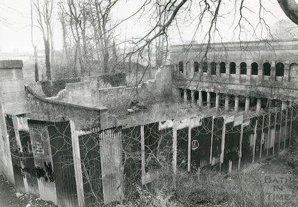 Ruined Prior Park Gymnasium, 1993