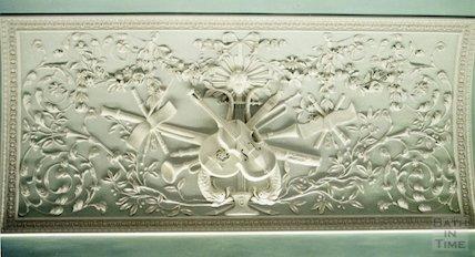 Prior Park (interior plasterwork featuring musical instruments), December 1995