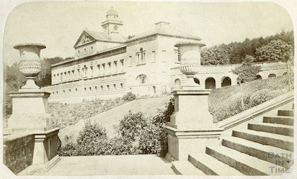 Prior Park - east wing, c.1870