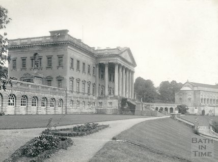 Prior Park - main block and part of the chapel c.1900