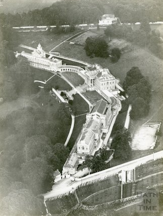 Prior Park aerial view, c.1930s