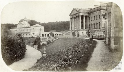 Prior Park - main block and east wing c.1870