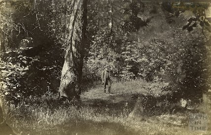 Unknown gentleman standing in forest c.1870