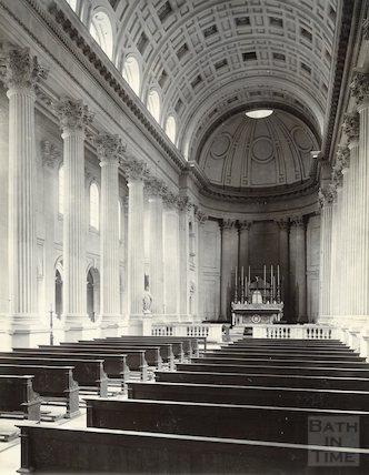 Prior Park. Interior of St Paul's chapel. C 1890.