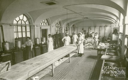 Kitchen, Prior Park, Bath c.1915