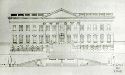 Prior Park. Elevation of North front, 1934-5