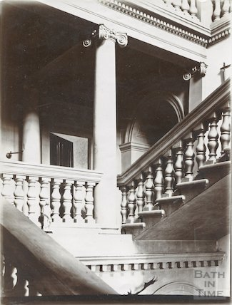 West wing staircase, Prior Park, Bath c.1903