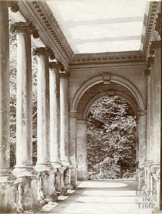 Palladian Bridge interior, Prioor Park, Bath c.1903