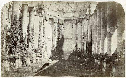 Prior Park. Interior of the chapel before restoration, c.1870.