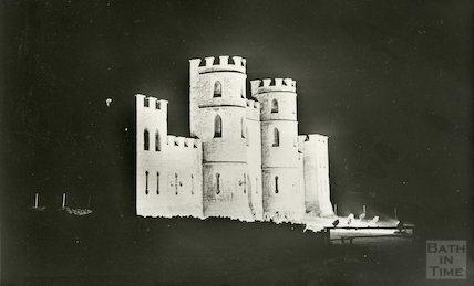 Sham Castle, floodlit, c.1920s