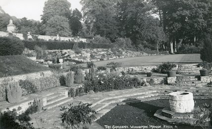 Widcombe Manor, the gardens c.1930