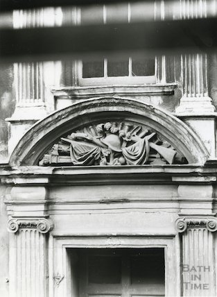Emblem above the doorway at General Wolfe's House in Trim Street, c.1950s?