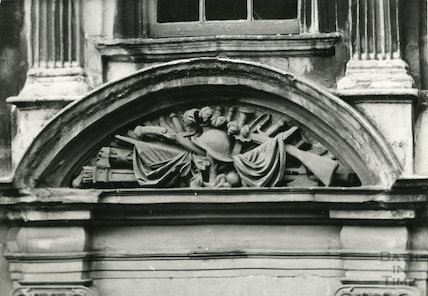 Detail of doorway of General Wolfe's House, Trim Street, c.1930s?