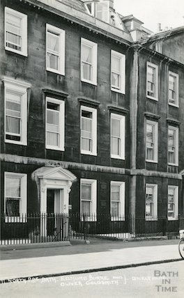 House of Edmund Burke and Oliver Goldsmith, 11 North Parade c.1930