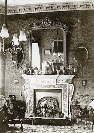 Fireplace in the drawing room, Eaglehurst, Bathford c.1900