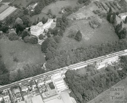 Bailbrook House - aerial view April 1969