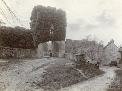 The entrance to Farleigh Castle, Farleigh Hungerford, c.1900