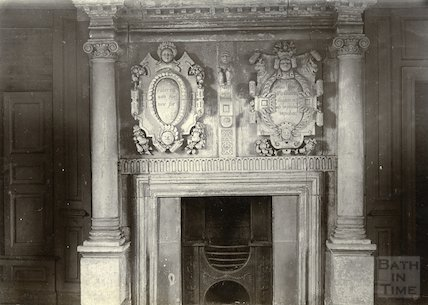Fireplace, South Wraxall Manor, c.1900