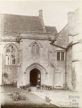 South Wraxall Manor. Entrance porch. c.1885