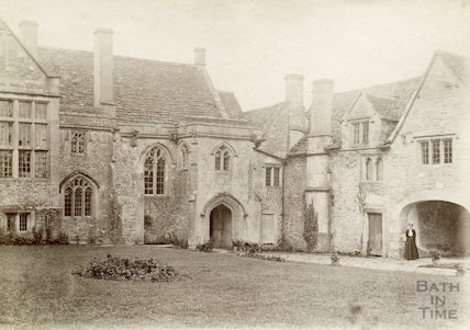 South Wraxall Manor. Main entrance and courtyard. c.1885