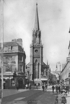 St Michael's church, Northgate Street, Bath, c.1910