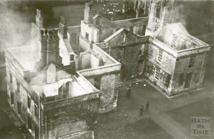 Bathford House, gutted by fire, November 1913