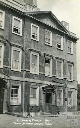House of Fanny Burney, 14 South Parade c.1930