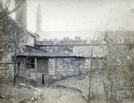 Rear of William Herschel's House, 19 New King Street, Bath c.1900