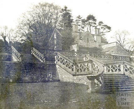 Claverton Manor, the old terrace of the former manor, c.1890