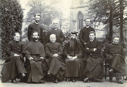 A group of priests, possibly connected with Downside Abbey, c.1900
