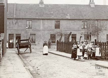 Cross Street looking down Longmead Street, East Twerton, Bath c.1900