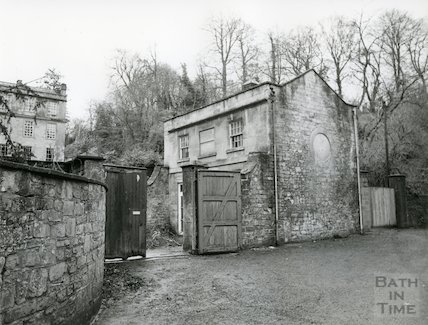 Lyncombe House - Stable and Coach House entrance, 30 December 1981