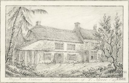 Sloperton Cottage, Bromham, Wiltshire, residence of Thomas Moore c.1830s