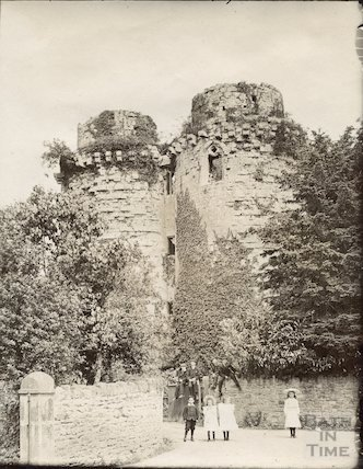 Nunney - the castle c.1900