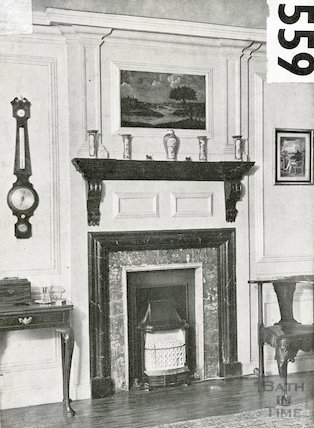 9 The Circus - the chimney piece in Col. Jenner's bedroom, c.1960s