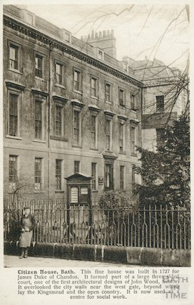 Chandos House, view from Westgate Buildings c.1907