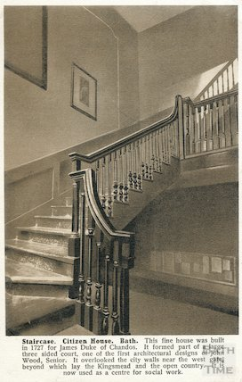 Chandos House staircase c.1907
