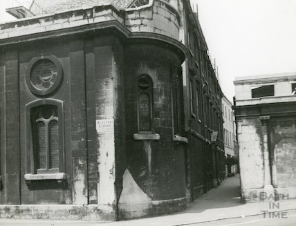 St. John's Hospital, Bath - view at the Junction of Helting Court and Bath Street, c.1920s?