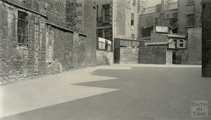 Weymouth House School Playground showing positioning of old city wall, c.1930s