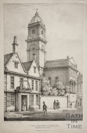 St. Michael's Church from Broad Street, Bath c.1833