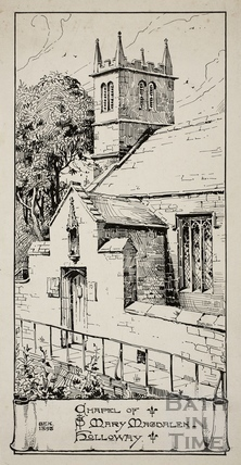 Chapel of St. Mary Magdalen, Holloway, Bath 1898