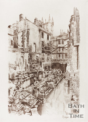 Roman Baths, Bath c.1880