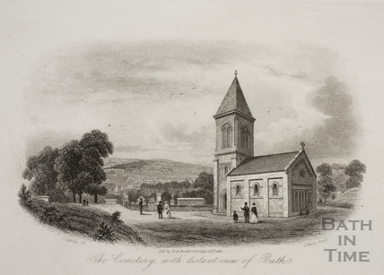 The Cemetery, with distant view of Bath 1850
