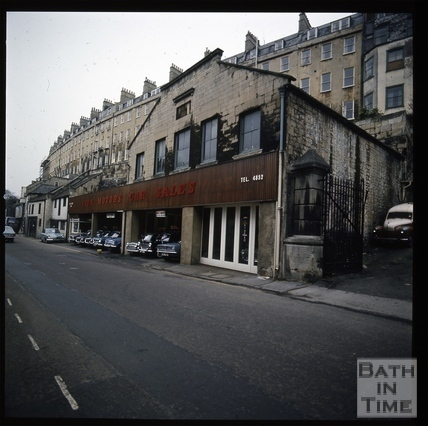 Snowdon. Walcot Street and rear of Paragon Buildings, Bath 1972